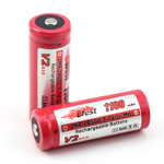 IMR 18500 Battery 3.7v 1100 mAh Button Top (Efest)