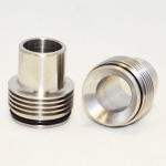 Chuff Enuff Style Drip Tip Finned 22mm (Stainless)